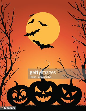 Halloween Party Background Template Vector Art  Getty Images