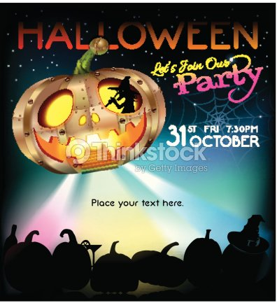 halloween party design template illustration vector art thinkstock