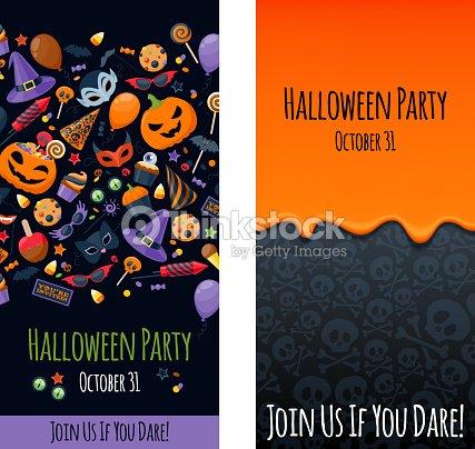Halloween Party Poster Plantilla De Diseño De Tarjeta De