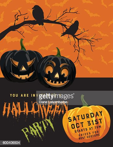Halloween Party Invitation Template Vector Art | Getty Images