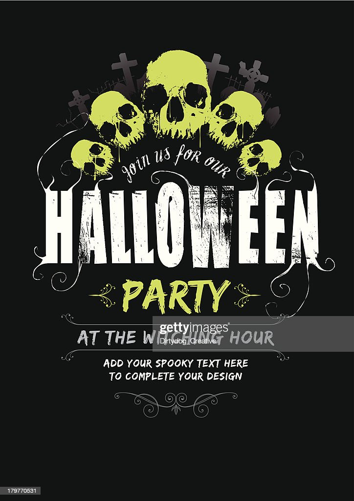 Halloween Party Invite V2 Vector Art Getty Images