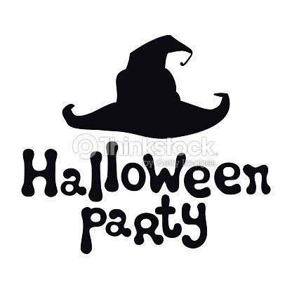 Tema De La Fiesta De Halloween Frase De Letras Handdrawn Elemento De ...