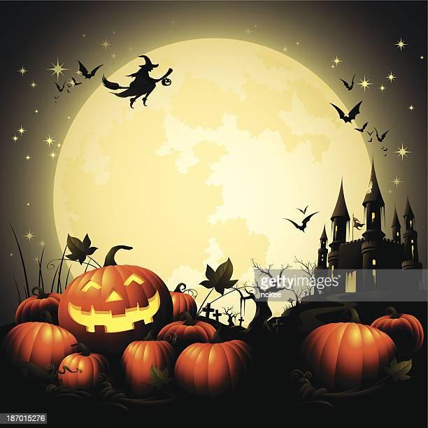 Halloween Pumpkin Pile - Haunted Castle