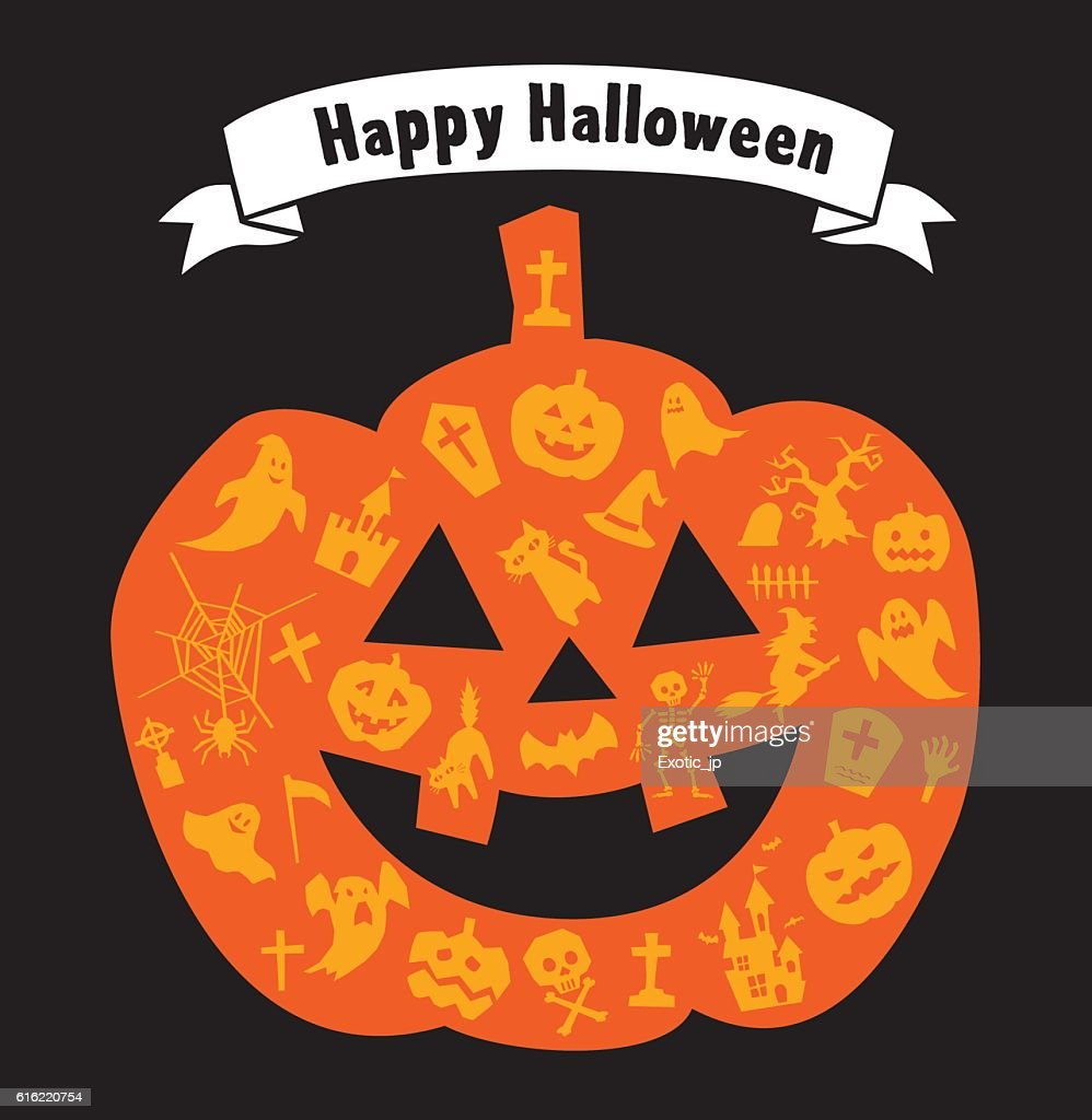 Halloween Pumpkin : Vector Art