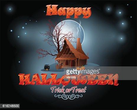 Halloween, the witch's night : Arte vetorial