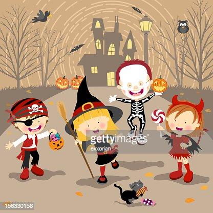 Halloween Trick or Treat : Vector Art