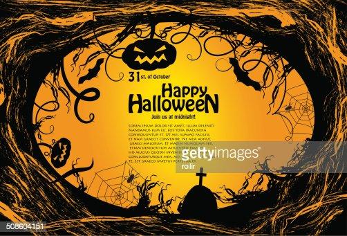 Halloween vector card : Vector Art