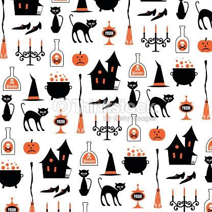 Sorci re dhalloween sur blanc motifs clipart vectoriel - Decoracion halloween para imprimir ...