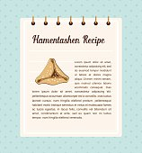 infographics of perfect Hamantaschen for Jewish holiday Purim. vector illustration