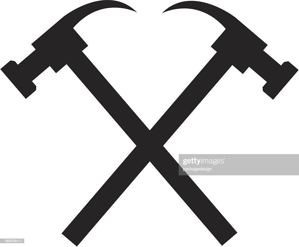 Vector Illustration Hammer: Hammer Logo Vector Art