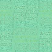 Hammerfest, Norway seamless pattern, typographic city background texture