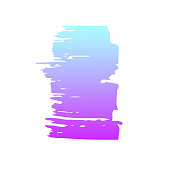 Hand draw  brush strokes. Decorative colored frame. Grunge banner, substrate.Neon effect banner.