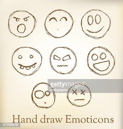 Hand Draw Emoticons Vector Art Thinkstock