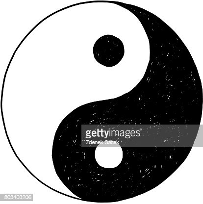 Hand Drawing Of Yin Yang Jin Jang Symbol Vector Art Thinkstock