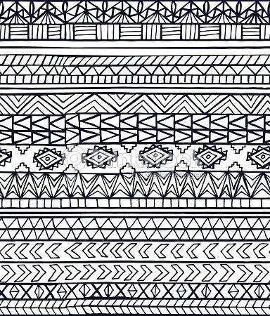 main dessin abstrait motif g om trique sans couture