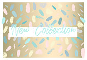 Artistic creative hand drawn header, label or poster of craft hand made art shop. Abstract background with brush paint strokes and worn textures