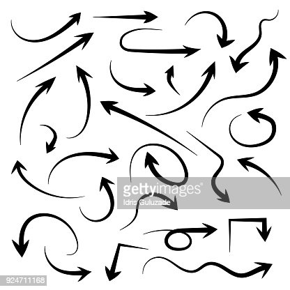 Hand drawn arrow set : stock vector