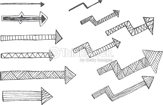 hand drawn arrow vector art thinkstock