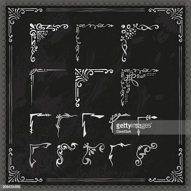 Hand Drawn Blackboard Frame Corners