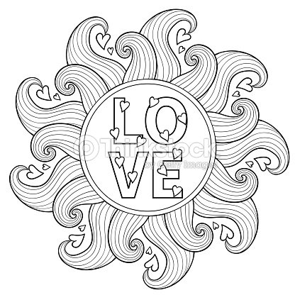 Hand Drawn Floral Frame For Adult Coloring Pages Artistically Vector ...