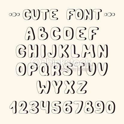 Hand Drawn Font Complete Abc Alphabet Set Letters And Numbers Vector Art