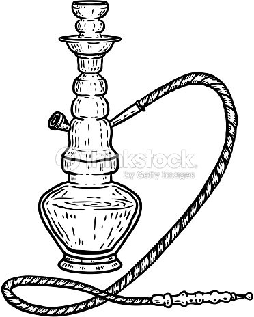 4d3a1bb7e2883 Hand drawn hookah illustration isolated on white background. Design element  for label, emblem, sign, poster, t shirt.