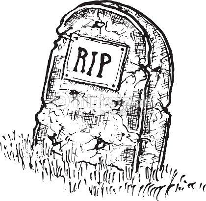 Illustrations r alis es la main isol pierre tombale avec rip clipart vectoriel thinkstock - Pierre tombale dessin ...