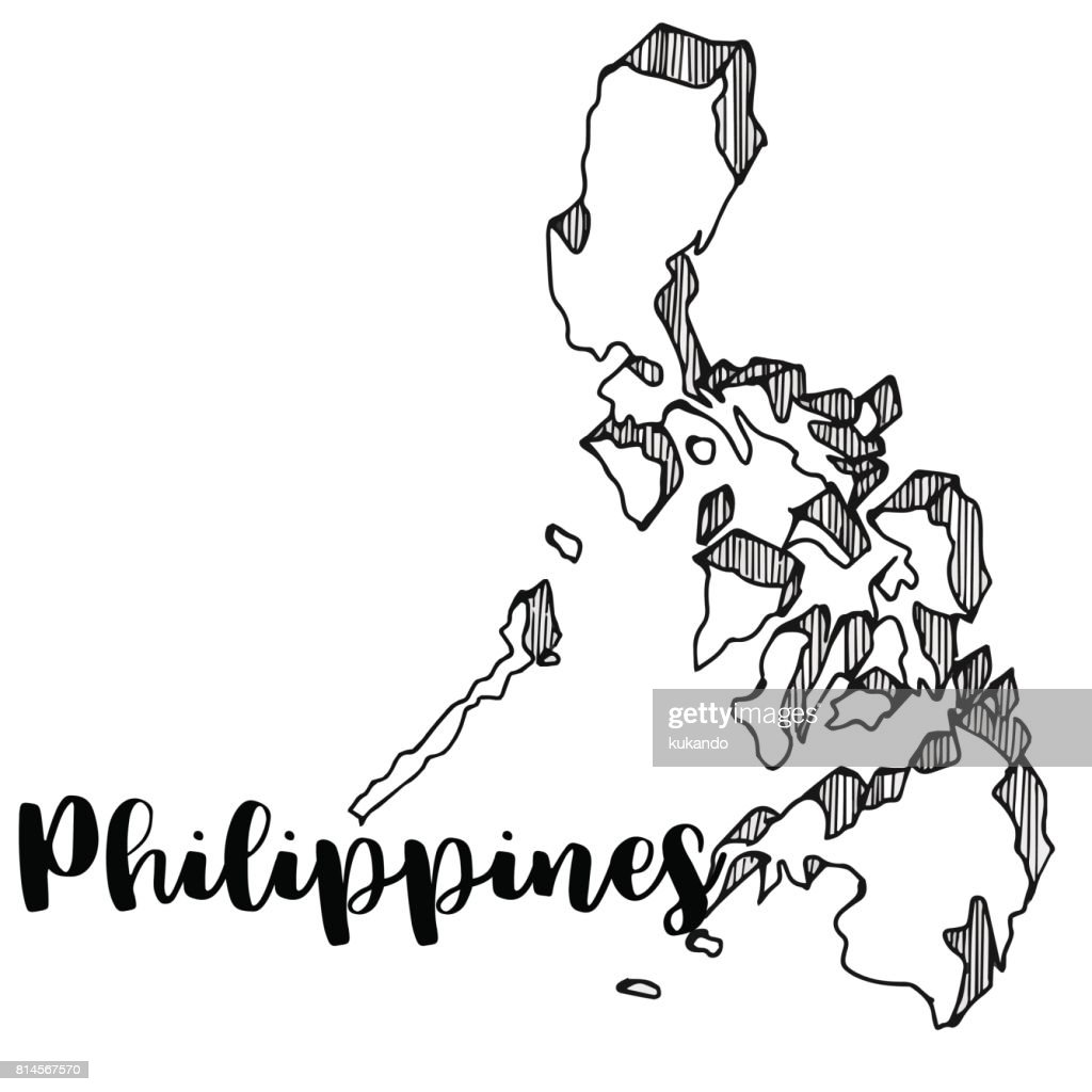 hand drawn of philippines map vector illustration vector art Manila Nightlife hand drawn of philippines map vector illustration vector art