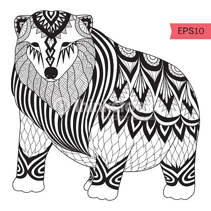 Hand Drawn Polar Bear Vector Art Thinkstock