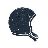 Hand drawn racing helmet textured vector illustration.