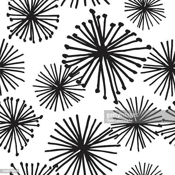 Hand Drawn Retro Seamless pattern