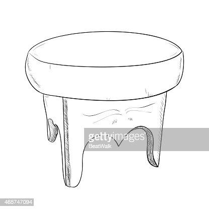 Stuhl bleistiftzeichnung  Hand Gezeichnete Skizze Des Stuhl Vektorgrafik | Thinkstock