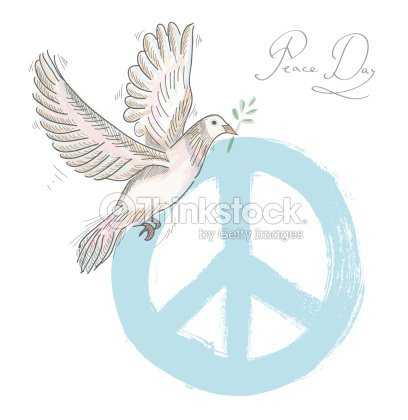 Hand Drawn Symbol Peace Dove Texture Background Eps10 File Vector