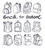 Sketch Doodle Backpacks.