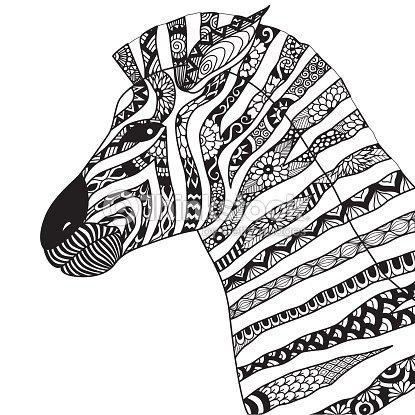 hand gezeichneten zebra vektorgrafik thinkstock. Black Bedroom Furniture Sets. Home Design Ideas