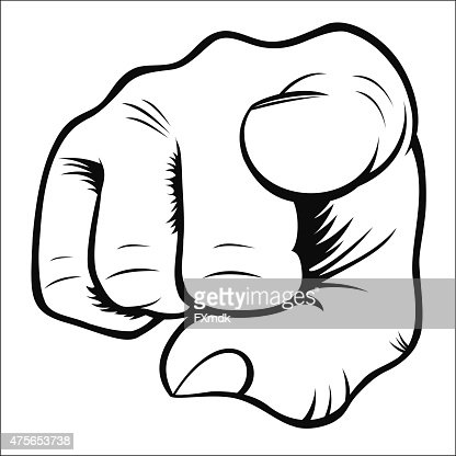 how to draw a finger pointing at you easy