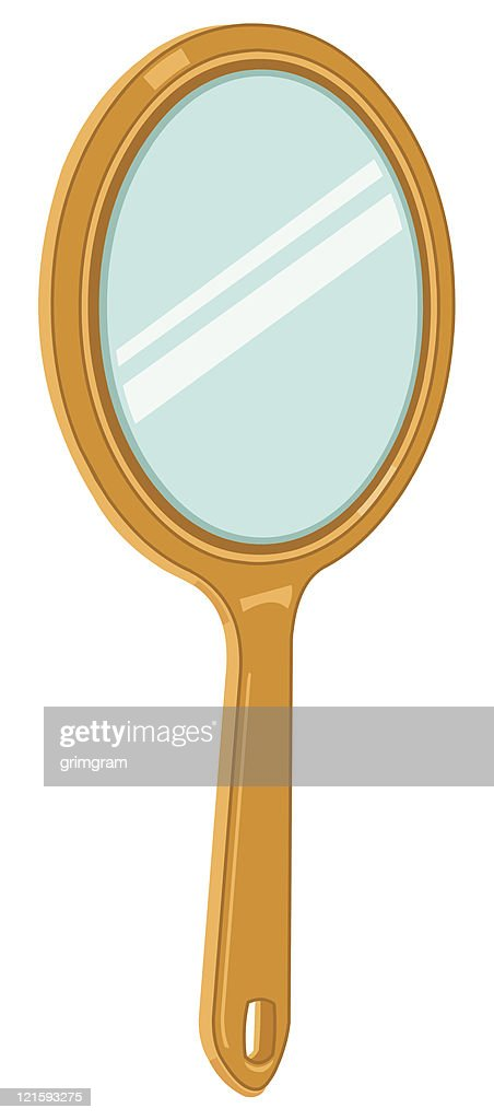 hand held mirror icon vector art thinkstock rh thinkstockphotos com vintage hand mirror clipart hand mirror images clipart
