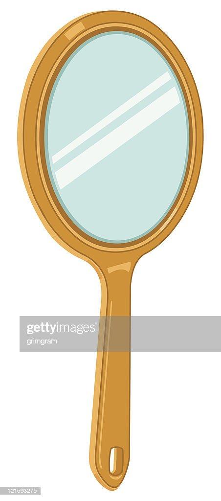 hand held mirror icon vector art thinkstock rh thinkstockphotos com  hand mirror clipart black and white
