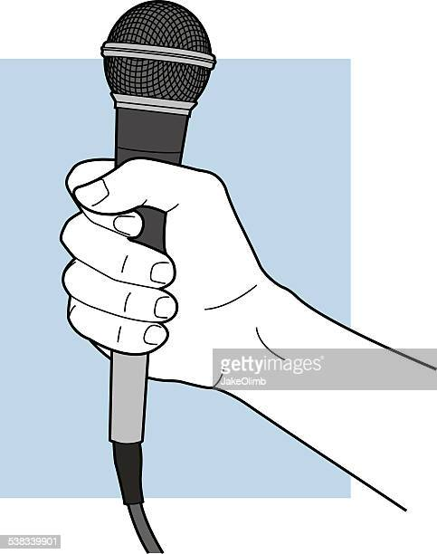 Line Art Microphone : Journalist stock illustrations and cartoons getty images