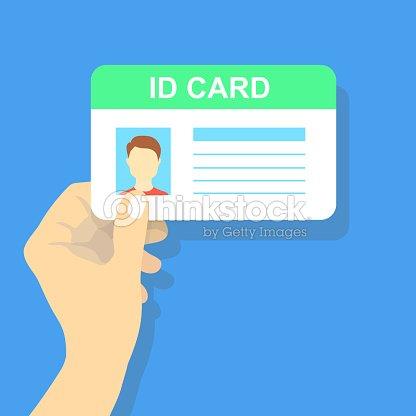Illustration Stock Holding Thinkstock Hand Vector Card Id The -