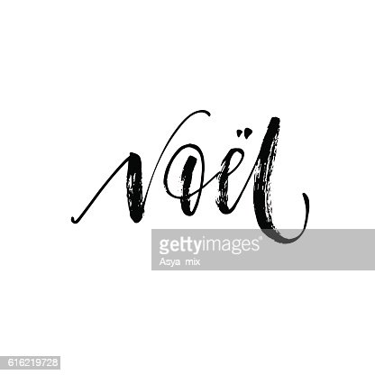 Hand lettering Noel card. : Vector Art