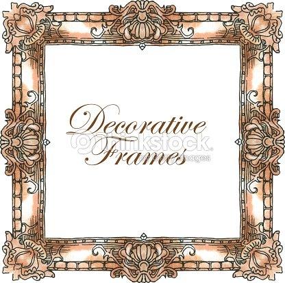 hand made vector sketch of ornate frames vector art thinkstock