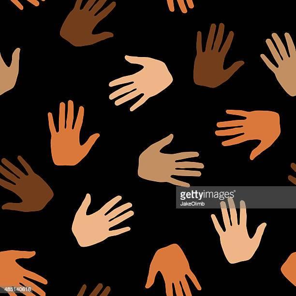 Hand Muster der Haut