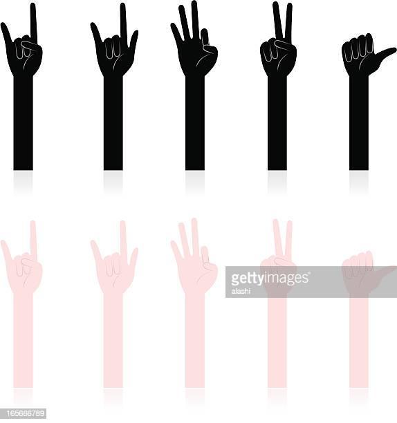 Geste de la main, gestes