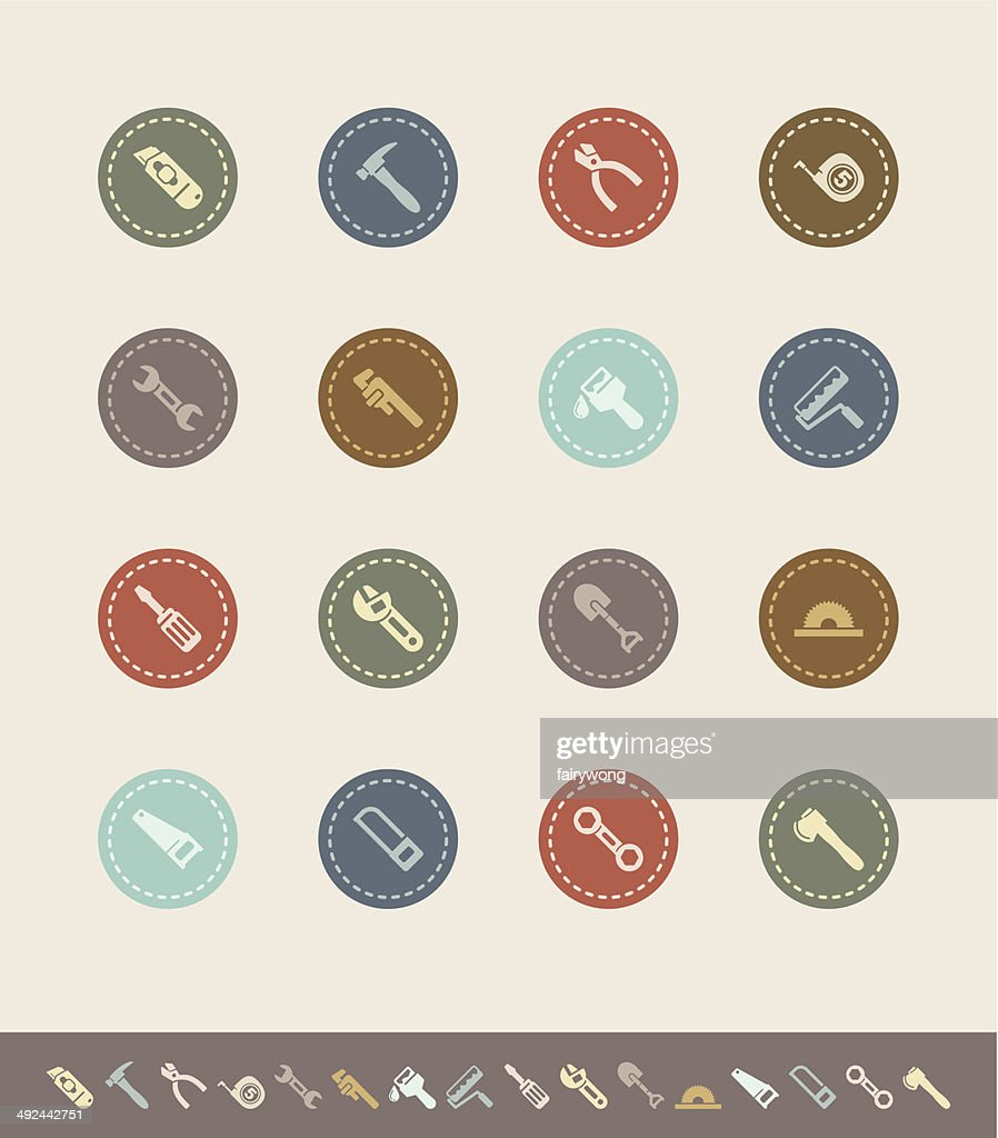 tool icon vector. hand tool icons vector art icon