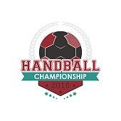 Handball championship emblem vector. Design for your sport graphic project.