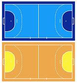 Handball court illustration isolated