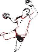 illustration of handball player