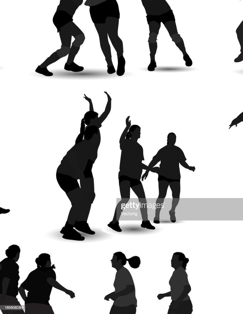 Handball Silhouette : Vector Art