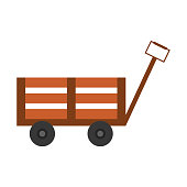 Handcart icon over white background vector illustration